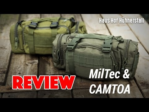 Outdoor Gürteltaschen Review  Mil Tec Hip Bag & Camtoa (low budget) Deutsch