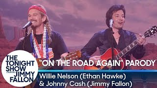 """On The Road Again""/""Let's Just Stay Here"" Duet with Willie Nelson and Johnny Cash"