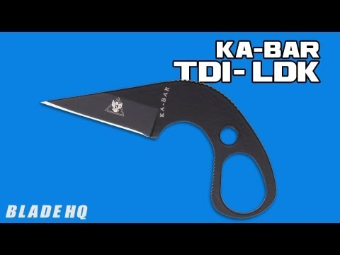 "Ka-Bar TDI LDK Last Ditch Neck / Boot Knife (1.625"" Black)"