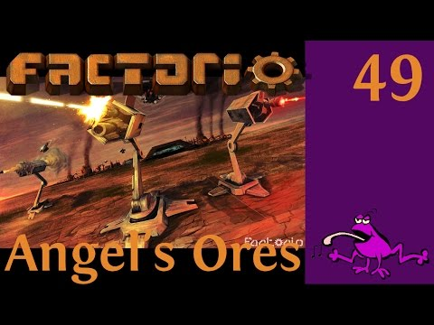 Let's Play Factorio Angel's Ores Ep #49, ore refineries