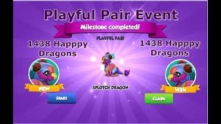 1400 HAPPY DRAGONS_PLAYFUL PAIR EVENT-DRAGON MANIA LEGENDS   New Chrono Divine Event   DML