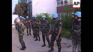 BOSNIA: SARAJEVO: UN BASE FORCED TO SURRENDER TO REBEL SERBS