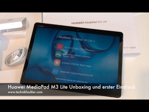 Huawei MediaPad M3 Lite Unboxing und erster Eindruck