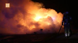 Caravan vol met afval in brand gestoken Geerkade Wilnis