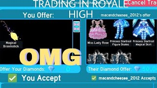 Trading in Royale High! *OMG*//Roblox