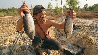 ปลากะพงยักษ์ ย่างบนแผ่นหิน แร่ธาตุไม่โบราณ!! - dooclip.me