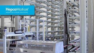 Vollautomatische Regalbediensysteme / HepcoMotion Anwendungsbeispiel
