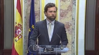 Declaraciones Iván Espinosa tras el discurso de Pedro Sánchez #SesióndeInvestidura