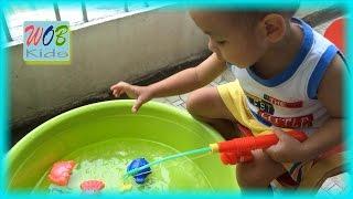 Fishing toys For Kids ! Bé Thịnh Câu Cá Và Chơi Nhà Banh ! World Kids !