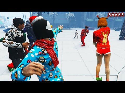 SNOWBALL FIGHT GTA 5 SNOW DLC 2016 - NEW GTA 5 FESTIVE SURPRISE UPDATE (GTA 5 Funny Moments)