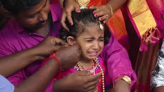 New Uncut Ear Piercing Ceremony Video  Magadhisha + Pavidanya