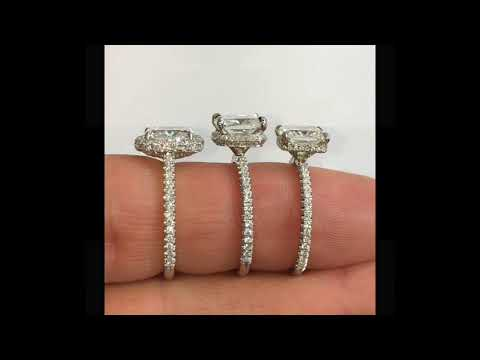 Comparing Hidden Halo Vs Halo and Solitaire Engagement Rings