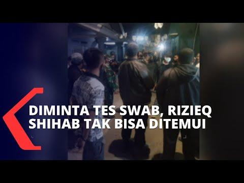 diminta tes swab rizieq shihab tak bisa ditemui petugas