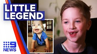 Boy born with organs outside body to undergo surgery | 9 News Australia