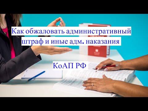 КоАП: как обжаловать административный штраф и иные наказания