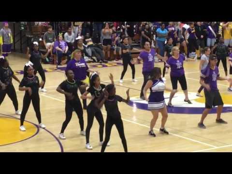 BHS Booker High Cheer Homecoming Pep Rally Teacher Dance- Juju On That Beat