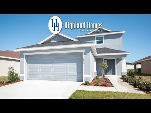 Skylar home plan by Highland Homes - Florida New Homes for Sale