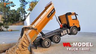 WLtoys Dump Truck 14600   RC Construction   Unboxing   Cars Trucks 4 Fun