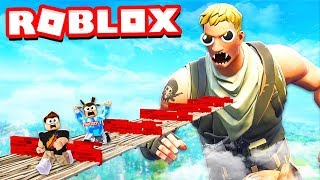 ESCAPE THE FORTNITE OBBY IN ROBLOX! with PrestonPlayz & MooseCraft roblox parkour