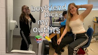 My Boyfriend Picks My Outfits To School For A Week