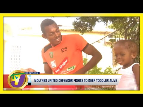 Jamaican Football Defender Fights to Keep Son Alive TVJ Sports March 2 2021