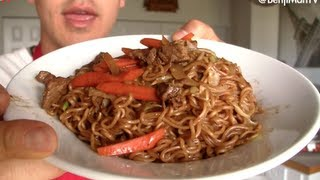Yakisoba Recipe and Tutorial (How to cook)- BenjiManTV