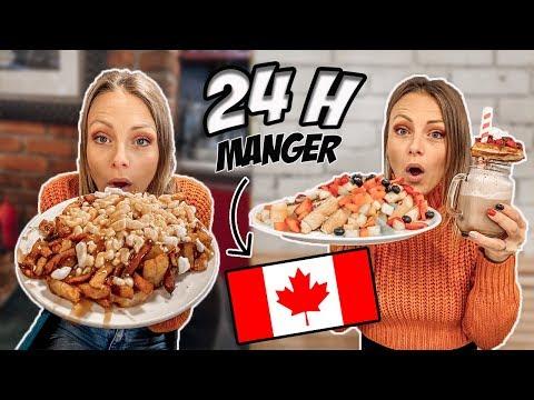 JE MANGE CANADIEN PENDANT 24H ! (je ne m'attendais pas à ça !!)