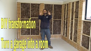 How To Convert A Garage Into A Room - DIY Transformation