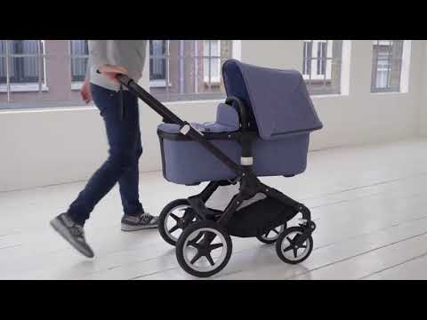 Bugaboo FOX Коляска 2 в 1 BLACK/ GREY MELANGE/ SUNRISE YELLOW