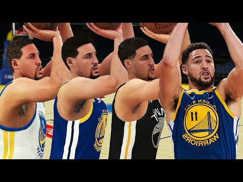 Klay Thompson - 3 Point Rating & Jumpshot Animation (NBA 2K13-NBA 2K19)