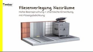 Fliesenverlegung in Großküchen / Nassraum auf Epoxidharz-Abdichtung (sehr hohe Beanspruchung)