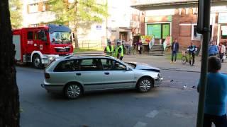 Wypadek na ul. Kolejowej w Krośnie