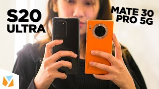Samsung Galaxy S20 Ultra 5G VS Huawei Mate 30 Pro 5G Comparison Review