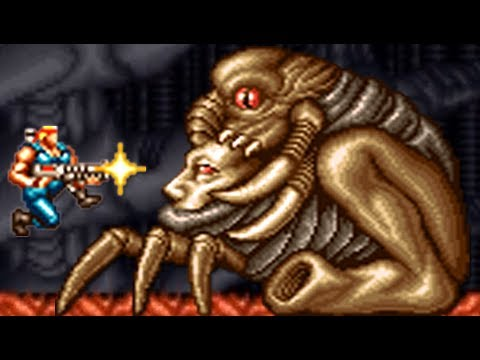 Contra III: The Alien Wars (SNES) All Bosses (No Damage)