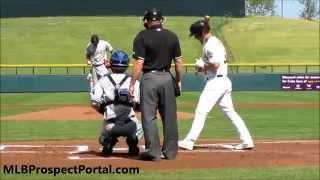Boog Powell Base Hit - Tampa Bay Rays - Arizona Fall League 2014