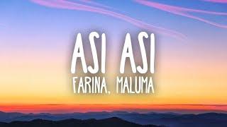 Farina, Maluma   Así Así (Lyrics)