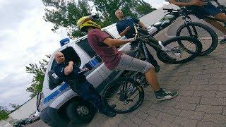 Interwencja policji z powodu wheelie na rowerze