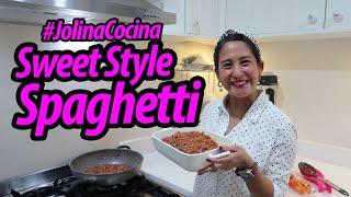 #JolinaCocina ***Sweet Style Spaghetti*** #JolinaNetwork