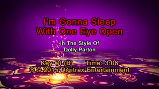 Dolly Parton - I'm Gonna Sleep With One Eye Open (Backing Track)