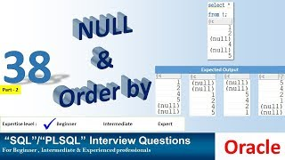Oracle PL SQL interview question NULL and Order by Clause
