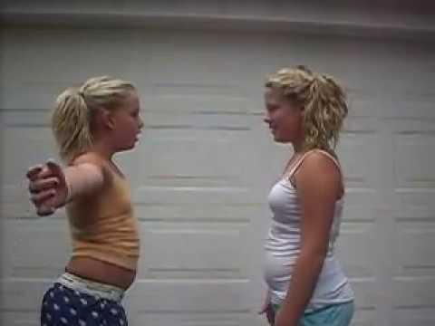 creepy little girls dancing