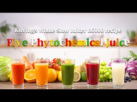Video Kuvings Cooking Style : Five color nutritious juices with phytochemicals by Whole slow juicer