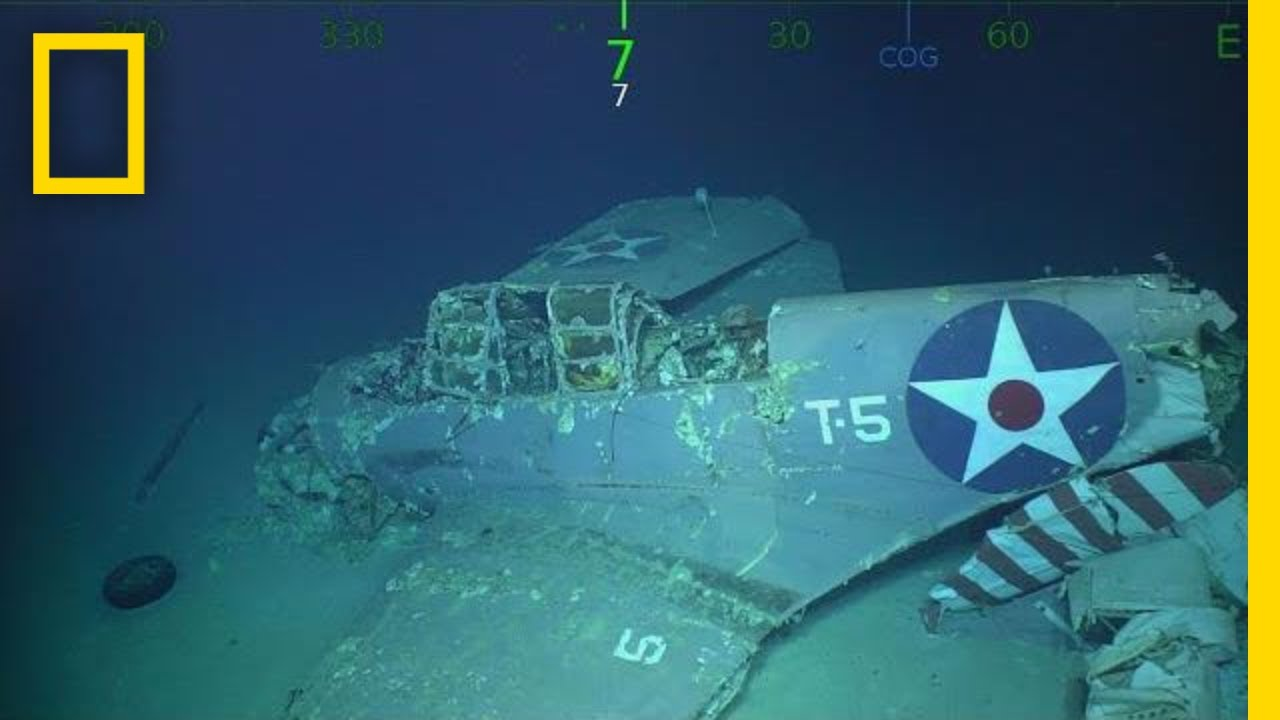 Wreckage of WWII Aircraft Carrier U.S.S. Lexington Found in Coral Sea | National Geographic thumbnail