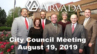 Preview image of City Council Meeting August 19, 2019