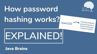 What is password hashing really about - Java Brains