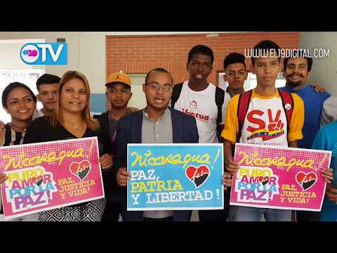 Mensaje de solidaridad con Nicaragua del  Gerente General del Instituto Nacional de la Juventud de Venezuela