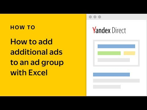 How to add additional ads to an ad group with Excel