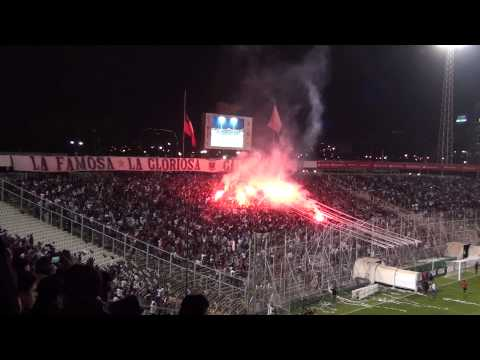 """Salida del Albo ante Táchira"" Barra: Garra Blanca • Club: Colo-Colo"