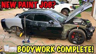 Rebuilding A Wrecked 2017 Dodge Hellcat Part 8
