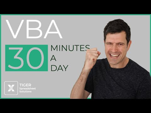 (1/30) Excel VBA Absolute Beginner Course (30 For 30)